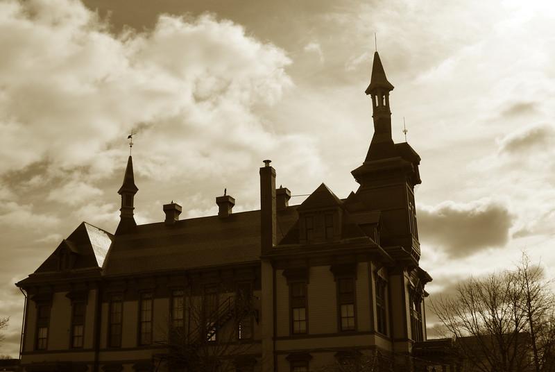 Creepy town hall: