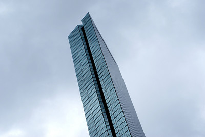 Glass tower: The 790 foot tall John Hancock Tower in Boston