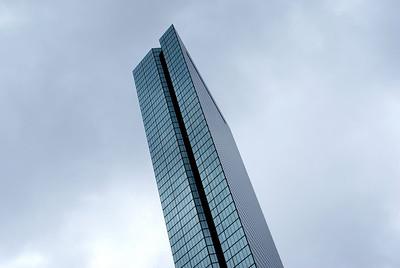 Glass tower: The 790 foot tall John Hancock Tower in Boston