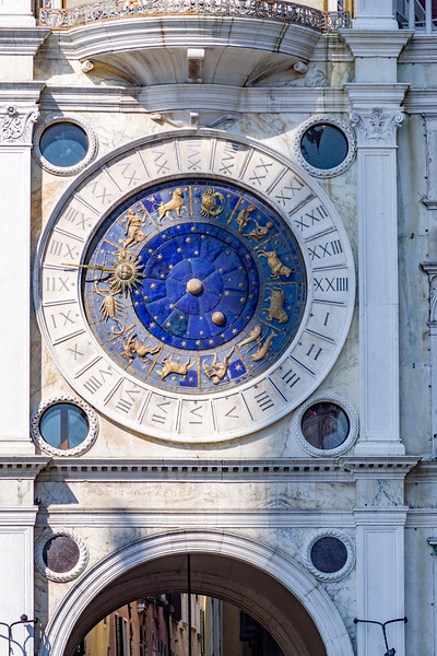 Astrological clock in Palazzo San Marco in Venice.
