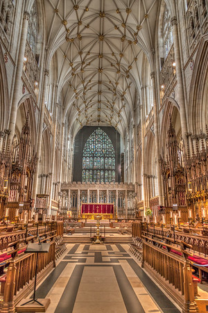 The Choir of York Minster, Looking East 2015.