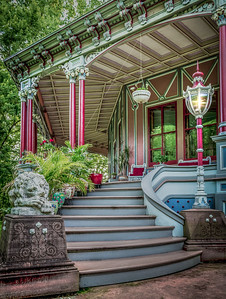 The Entrance to the Armour-Stiner House (Octagon House), Irvington, New York