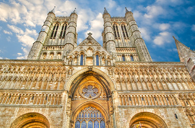 West Facade, Lincoln Cathedral, Lincoln UK.