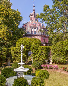 Gardens of the Octagon House, Irvington, NY.