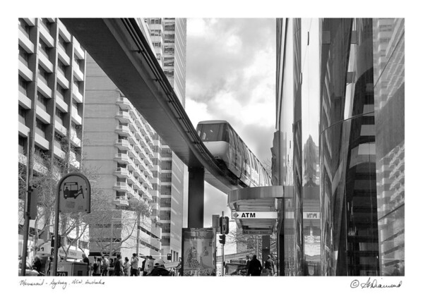 Downtown Monorail - Sydney, NSW, Australia