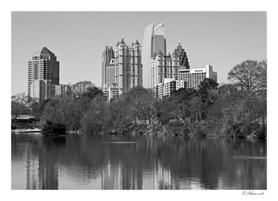 Skyline of Midtown From Piedmont Park - Atlanta