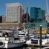 View from Inner Harbor<br /> 100 East Pratt Street, William Donald Schaefer Tower, Harborplace Gallery<br /> Baltimore, Maryland<br /> USA