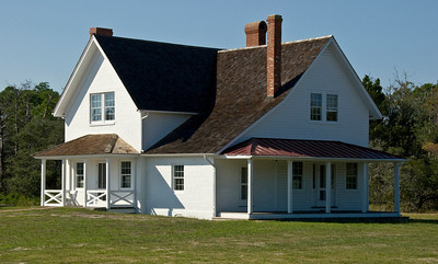 Nineteenth Century Home at Cape Hatteras, Outer Banks, NC, USA  ©Gerald Diamond All rights reserved