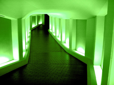 Tunnel to the Alley Theatre Soft Green