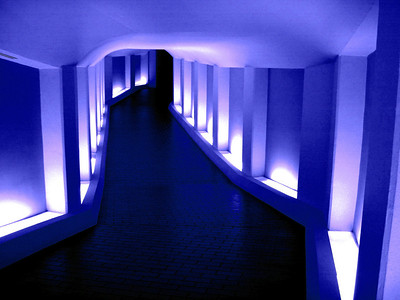 Tunnel to the Alley Theatre Soft Deep Blue