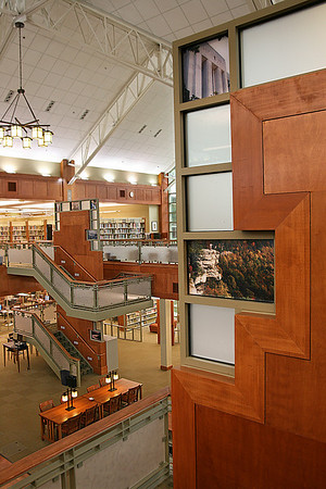 Reading Room of Clayton-Glass Library at Motlow State Community College. Tullahoma, TN