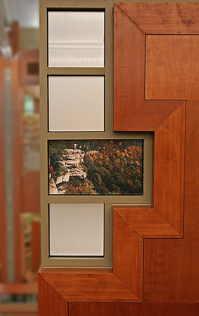 Picture panel detail.  Clayton-Glass Library, Motlow State Community College, Tullahoma, TN