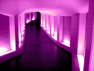 Tunnel to the Alley Theatre Soft Magenta