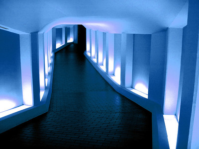 Tunnel to the Alley Theatre Soft Blue