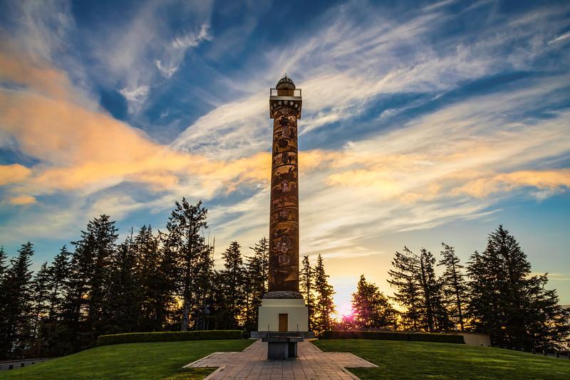 Astoria Column at Sunrise