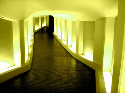 Tunnel to the Alley Theatre Soft Yellow