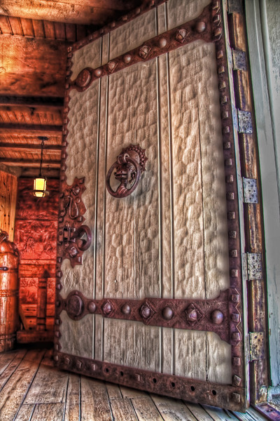 The Great Gothic Like Door at Timberline Lodge Mt Hood Oregon