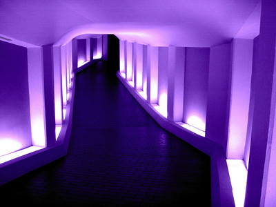 Tunnel to the Alley Theatre Soft Purple
