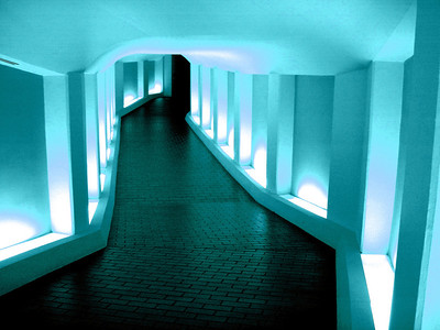 Tunnel to the Alley Theatre Soft Aqua