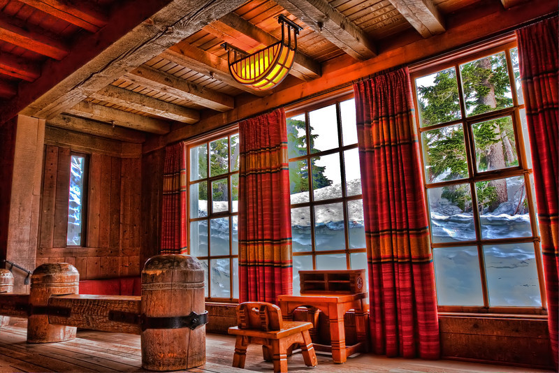 Timberline Lodge Desk with a View
