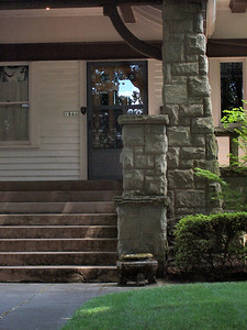 1846 SE Ladd Street - More detail of the front porch stone work.
