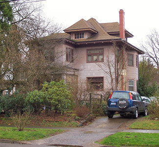 5723 North Vancouver - This home appeared newly constructed in the Feb. 21, 1910, Oregonian, with a reference to its architect, Alfred Faber.  Mrs. L. D. Grierson was the first owner.  The front porch originally had an open balcony above, not the enclosed bay added in recent times.