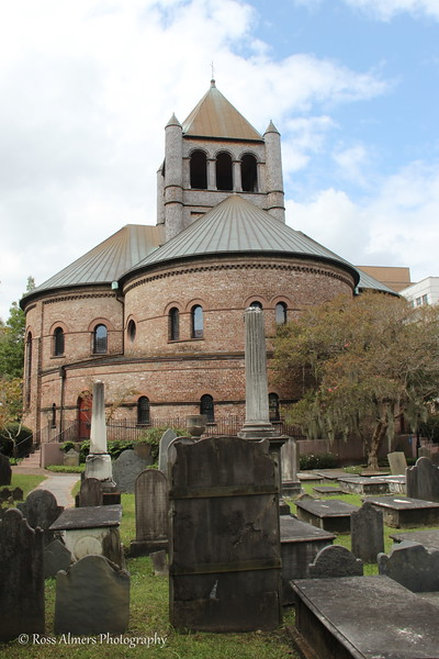 Circular Congregation Church from the Cemetery