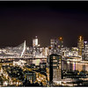 Nightview on the skyline of Rotterdam NL