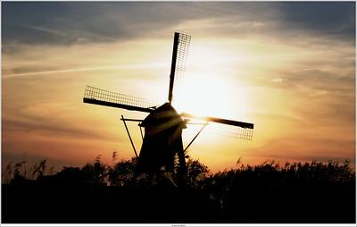 Sunset at Kinderdijk, NL