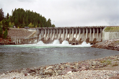Jackson Lake Dam (Snake River side), Grand Teton National Park, Wyoming