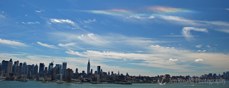"""""""Rainbow in the City"""" - View from Weehawken, NJ"""