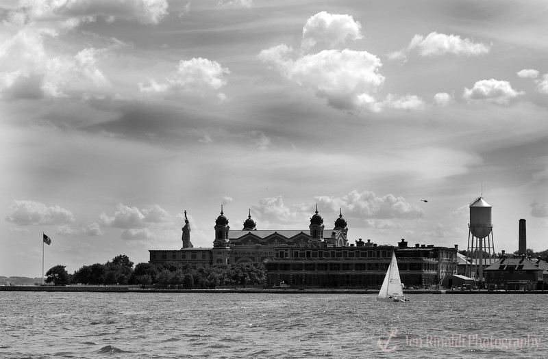 View from Liberty State Park, NJ  of Ellis Island