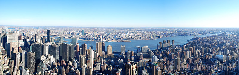 New York City Panoramic from the top of the Empire State Building 1-1-09