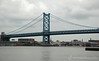 The Benjamin Franklin Bridge from the Camden waterfont, New Jersey