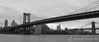 Manhattan Bridge (foreground) and Brooklyn Bridge (background)