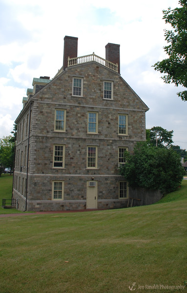 "Hancock House Ticonderoga, NY  - <br /> <br /> The Hancock House was a gift to The New York State Historical Association (NYSHA) from native son and philanthropist Horace Moses. He built the house as a repository for the purpose of perpetuating ""American Traditions in History and the Fine Arts,"" and it served in this capacity for many years as the NYSHA ""Headquarters House,"" although it can no longer claim this title. <br /> <br /> This imposing Georgian mansion is a replica of Thomas Hancock's (uncle to John Hancock) Beacon Hill residence built in 1737 and 1741, and demolished in 1863."