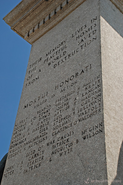 """Mortui Honorati - Killed In Action"" Weehawken Memorial World War 1917-1918 <br /> Monument at Hamilton Park in Weehawken, NJ"
