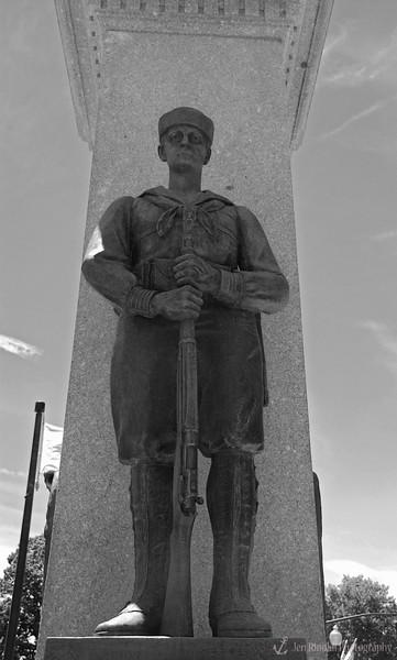 """Mortui Honorati - Killed In Action"" Weehawken Memorial World War 1917-1918 <br /> Monument at Hamilton Park in Weehawken, NJ"