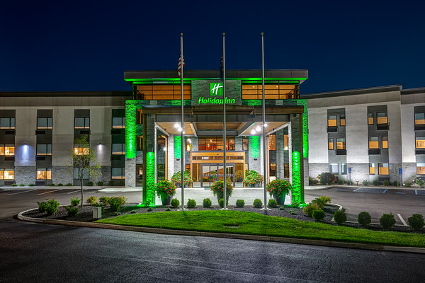 Exterior photos of the Holiday Inn located in Columbus, IN. Photo by Tony Vasquez