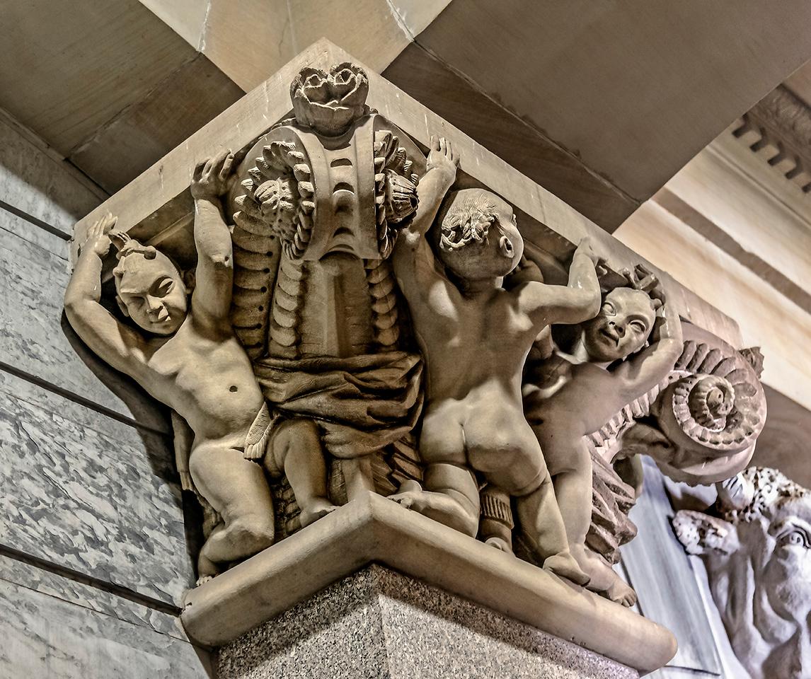 Children Themed Column Capital