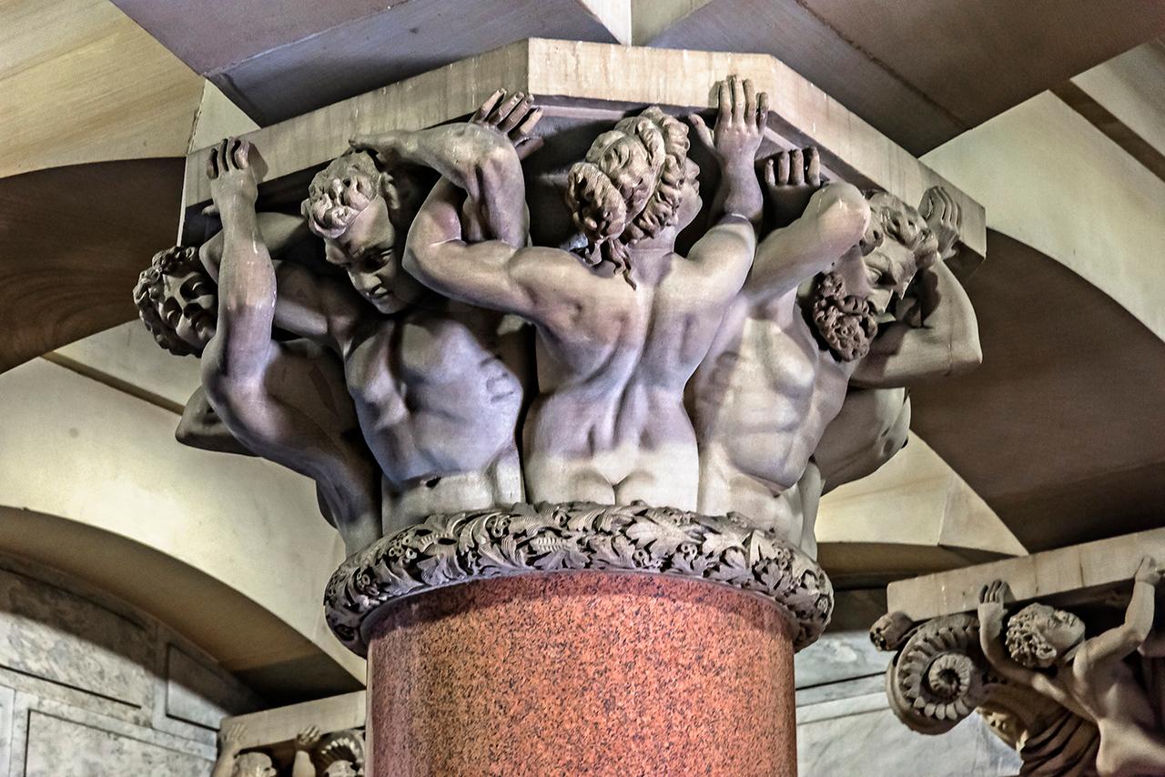 European Themed Column Capital