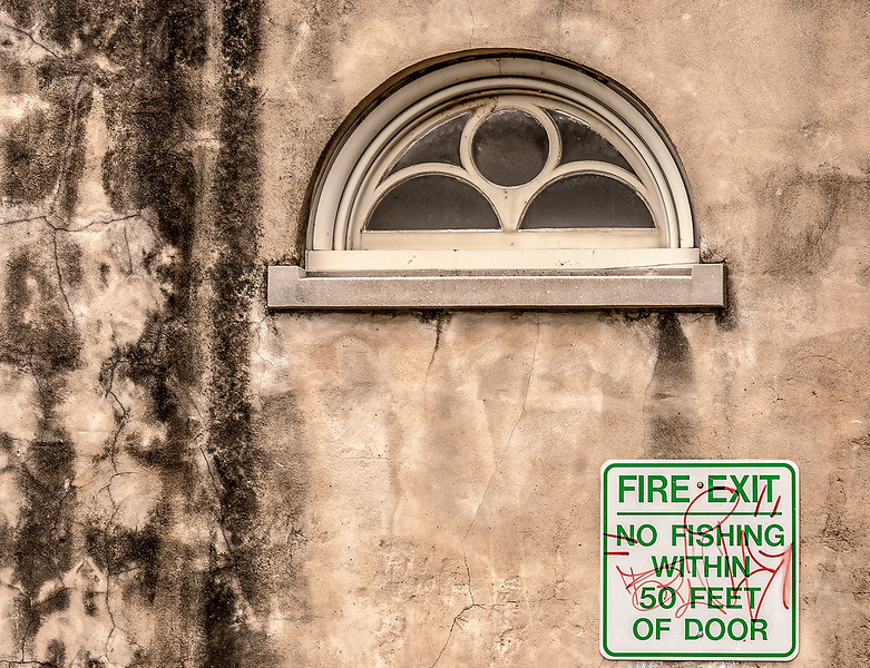 Fire Exit, No Fishing