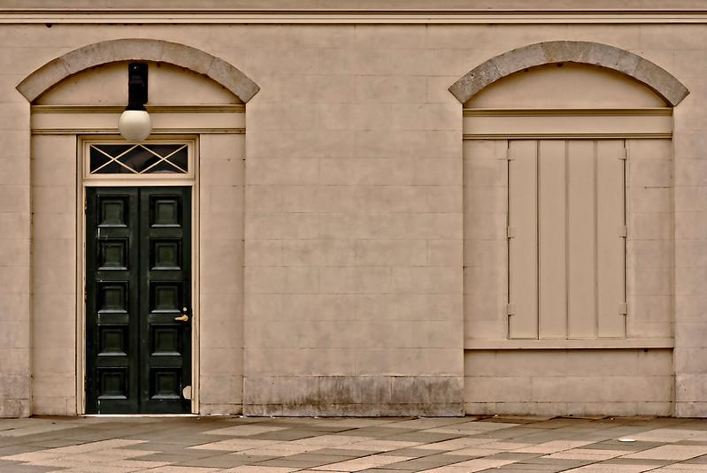 Door, Boarded Window