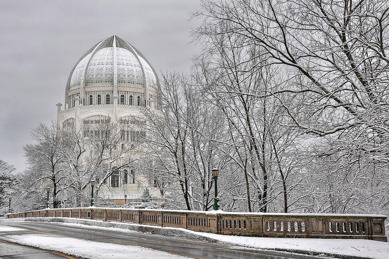 Baha'i Temple (Architect: Jean-Baptiste Louis Bourgeois)
