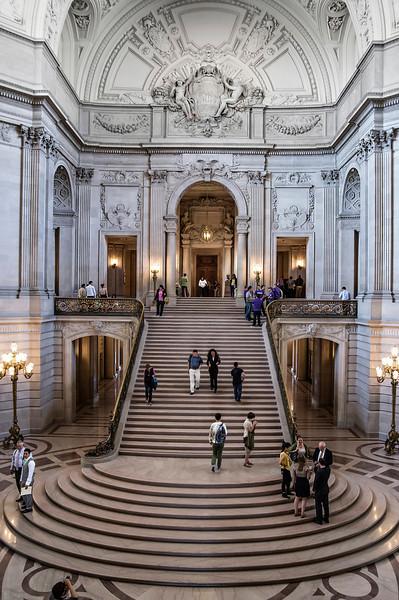 Grand Staircase, San Francisco City Hall (Architect: Arthur Brown, Jr.)