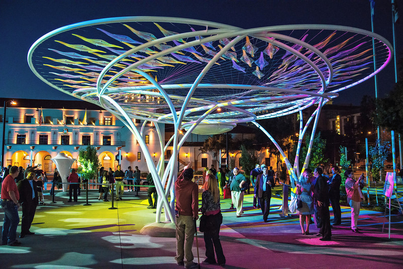 "San Jose McEnery Convention Center (""The Idea Tree"" Artist Soo-in Yang)"