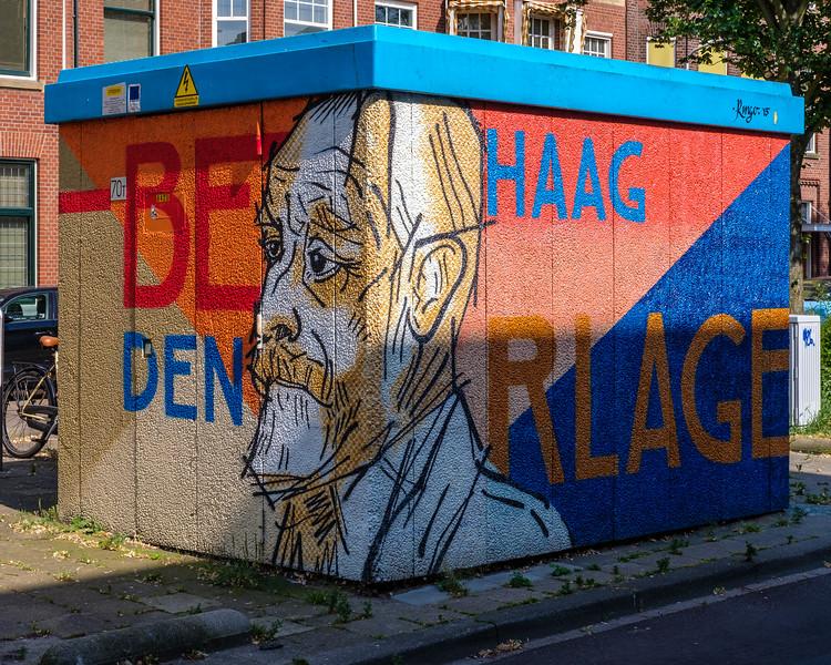 Street Art - Architect Hendrik Petrus Berlage,  The Hague.