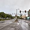 Rainy morning Ala Moana Blvd Honolulu Hawaii
