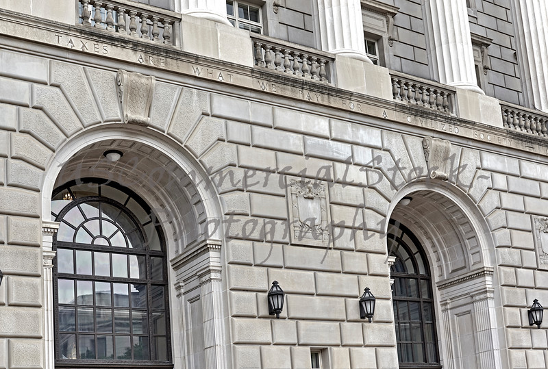 Front of Internal Revenue Service Building in Washington DC