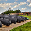 Cannons on display at Fort Washington